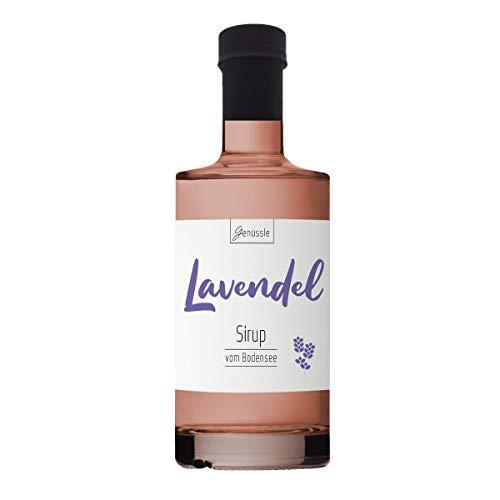 Lavendelblüten-Sirup 350ml - Genüssle Lavendelsirup vom Bodensee - Lavendelsirup aus echten heimischen Lavendel - natürlich ohne Zusatzstoffe, Größe:350 ml