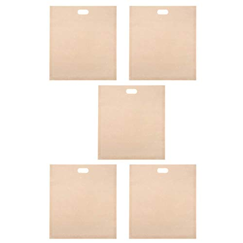 DERCLIVE 5 bolsas reutilizables para tostadora, resistentes al calor, antiadherentes, para sándwiches, pizza, calentamiento, contienen