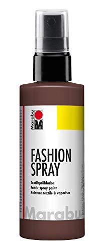 Marabu 17190050295 - Fashion Spray kakao 100 ml, Textilsprühfarbe, m. Pumpzerstäuber, für helle Textilien, weicher Griff, einfache Fixierung, waschbeständig bis 40°C, tolle Effekte auf Stoff