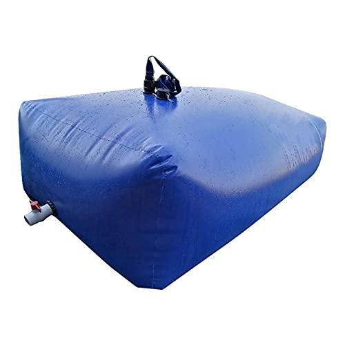 YJFENG Bolsa De Almacenamiento De Agua Plegable Portátil, Vejiga De Agua De Coche De PVC De Gran Capacidad, para Riego, Montañismo (Color : Blue, Size : 120L/0.5x0.6x0.4M)