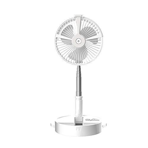 Yuxahiugfs Small Desk Fan, Multifuncional piso del ventilador del aerosol ventilador de pie telescópico ventilador con Banco de alimentación del humidificador ventilador con lámpara de mesa Silencio S