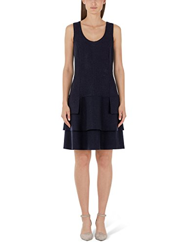Marc Cain Additions HA 21.09 J30 Vestito, Blu (Midnight Blue 395), 48(Taglia del Produttore: N5 / 42) Donna