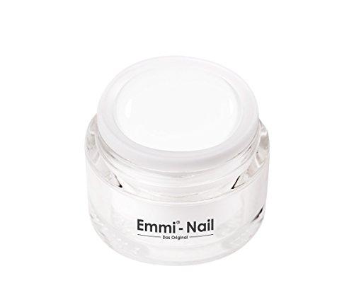 Emmi-Nail Farbgel Fantastic White: UV-Gel für glänzendes Finish, hohe Deckkraft, weiß, mittelviskos, kein Verlaufen in die Nagelränder, 5 ml