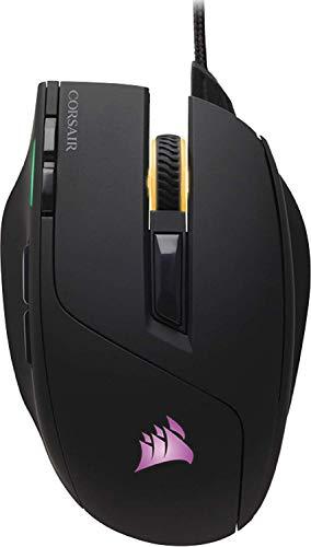 Corsair Sabre RGB Mouse Ottico da Gioco, RGB Multicolore Retroilluminato, 10000 DPI, FPS, con Cavo, Nero