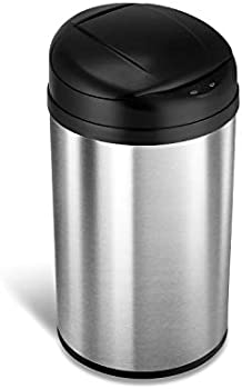 Ninestars Automatic Touchless Infrared Motion Sensor Trash Can, 11 Gal 40L