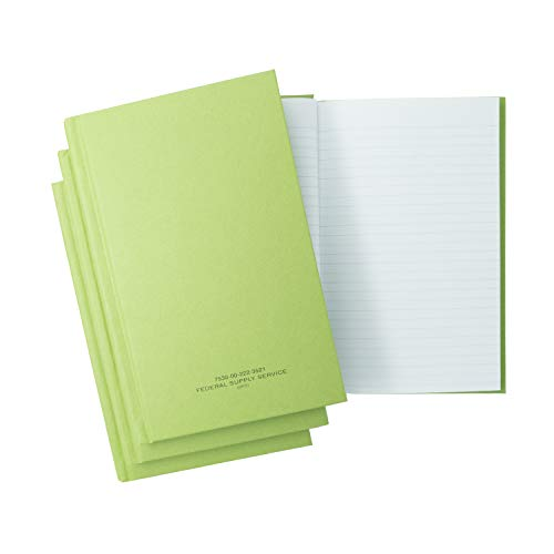 "(3 Pack) Tacticai Green Military Log Book (5.25"" x 8"" – 192 Pages), Record Book for Record Keeping, Supply Chain, Inventory, Training, Maintenance & Field Operations, NSN 530-00-222-3521"