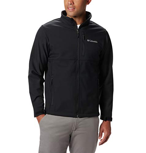 Columbia Men's Size Ascender Softshell Jacket, Water & Wind Resistant, Black, Large Tall