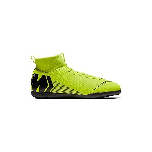 Nike Jr. Mercurial Superfly Vi Club Turf, Zapatillas de Deporte Interior Unisex Niños, Negro (Volt/Black 701), 34 EU