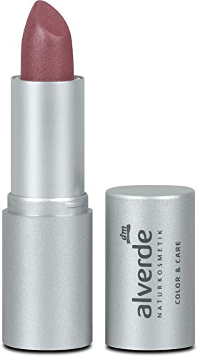 alverde NATURKOSMETIK Lippenstift Color & Care, 4,6 g (Berry 04)