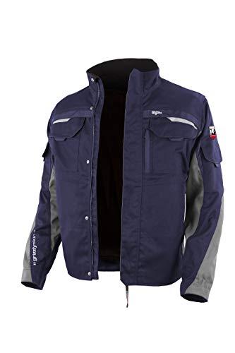Grizzlyskin Grizzlyskin Arbeitsjacke Iron Marine/Grau 62-64 - Unisex Workwear für Damen & Herren, Cordura-Schutzjacke mit vielen Taschen, Outdoor Jacke mit Reflexbiesen