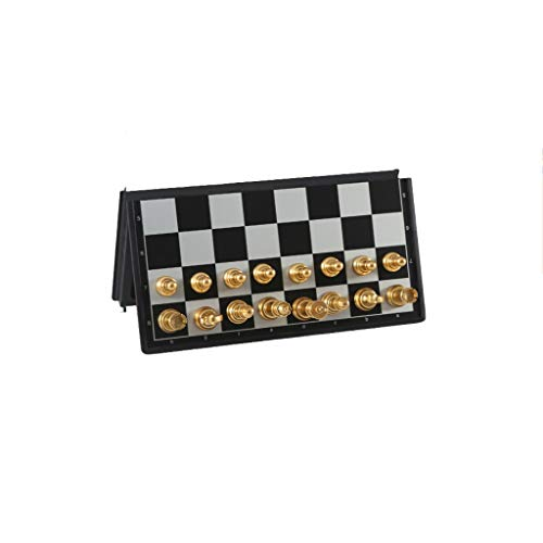 Juego de Ajedrez Juego de tablero de ajedrez magnético Juego de plegado divertido Juego de ajedrez para principiantes Juego de ajedrez internacional para aprendizaje Partido juego Jugar Ajedrez y Dama