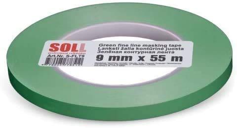 Soll Green Fine Line Tape Automotive Dünnes Abdeckband 1 3 Mm X 55 M Gewerbe Industrie Wissenschaft