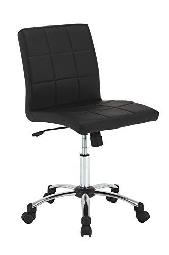 Amazon Brand - Movian Tisza - Silla de escritorio, 57 x 60 x 95cm, negro
