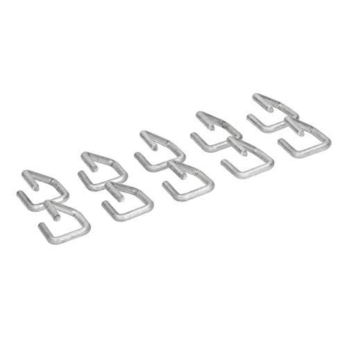 ECD Germany Set 10 Abazadores para Gaviones 2x2cm de Ganchos de Tensión Espesor de Alambre de Ø4mm Anillos de Alambre Zinc-Aluminio Espaciadores Separadores para Cestas Vallas Decorativas de P