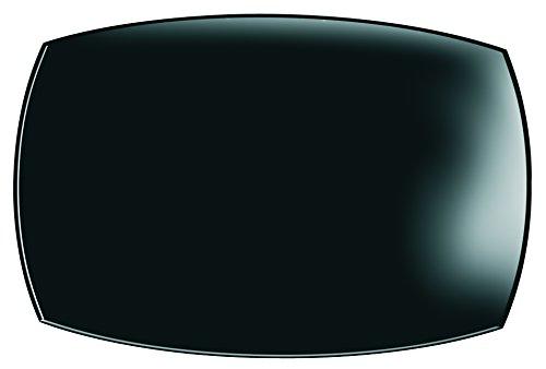 Dajar Ouadrato - Bandeja rectangular (35 x 26 cm, cristal, 35 x 26 x 4,1 cm), color negro