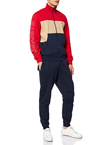 Lacoste WH7161 Chándal, Marine/Viennois-Rouge, XXL para Hombre