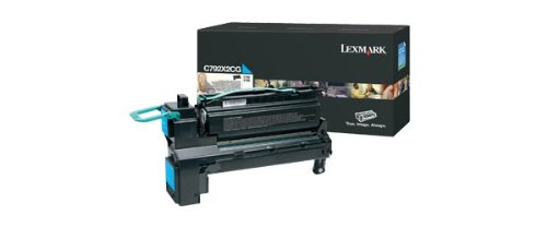 Price comparison product image Lexmark Extra High Yield Cyan Toner Cartridge,  20000 Yield,  for Use in Model C792 / CS796 (C792X2CG)