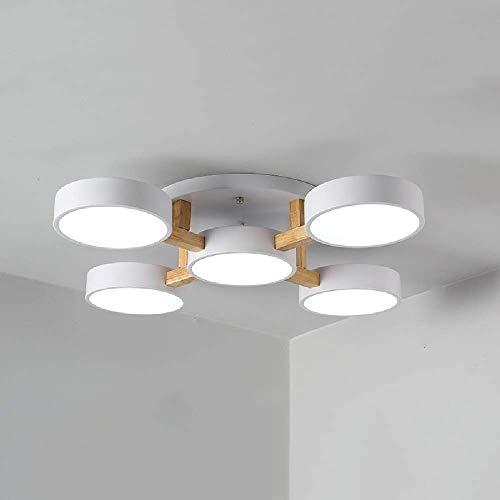 GaoF Moderno Montaje Empotrado 36W LED Luz de Techo Acrílico Dormitorio Iluminación Colgante Energy Star Araña de Madera 48 Watt Decoración de Sala de Estar Lámpara Colgante 6000K Blanco 4