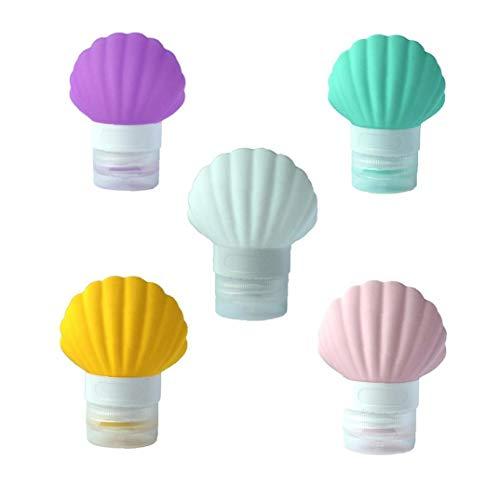 1pc Shell Silicone Bouteilles Voyage Tsa Bouteilles De Voyage Approuvées Portable Liquid Container De 3oz