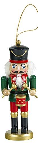 yanka-style Schiaccianoci Trommler ca. 15 cm di Altezza in Legno colorato con Filo per Appendere Natale, avvento, Decorazione Regalo (92030 – 15T)