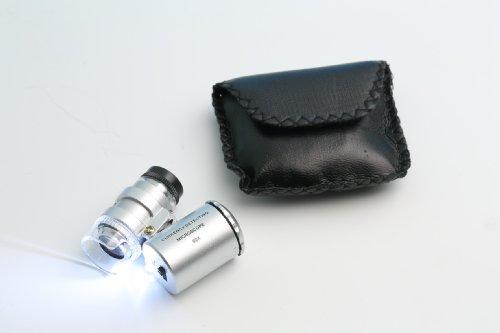 Goldiflora Optics–MG 9882di IP5–SPEZIAL microscopio per il iphone 5–60X di ingrandimento con 2lampade LED e 1luce UV–inkl. Batterie per PC. 1X BOTTIGLIA DI Detergente Speciale–Gratis–1X Panno di Pulizia in microfibra–Gratis–1X lente d' ingrandimento per assegni–Gratis