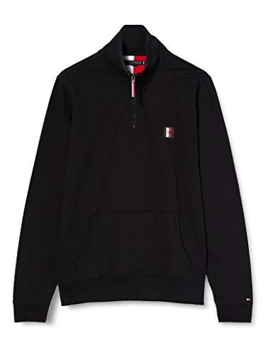 Tommy Hilfiger Herren Th Flex Half Zip Mock Sport Pullover, Schwarz (Black Bds), Small