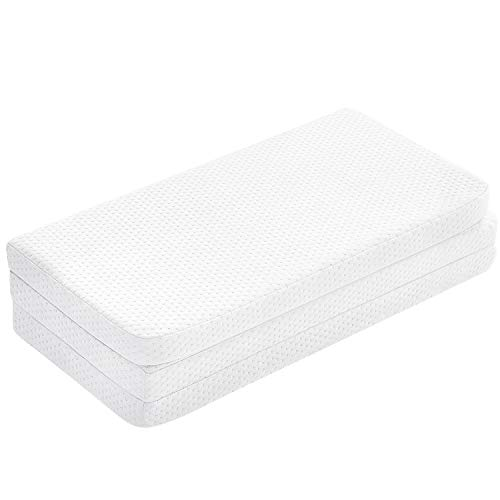 UBBCARE Fitted Foldable Memory Foam Pack n Play Mattress Pad Portable Playard Mattresses 38X26x15quot with Washable Cover amp Storage Bag
