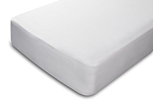 Pikolin Home - Protector de colchón, 100{b38897acb03eda83e05efafe5346b1b3364e63d7d3cb3fdd969c3e0b5a7f4b63} bambú, impermeable, color blanco, 90x190/200cm-Cama 90 (Todas las medidas)