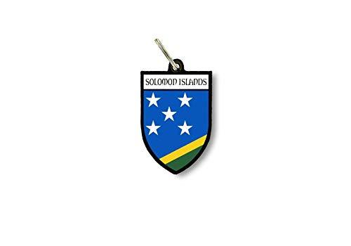 Schlüsselanhänger Schlüsselanhänger Ring Flagge Nationalflagge Souvenir Schild Salomon Inseln