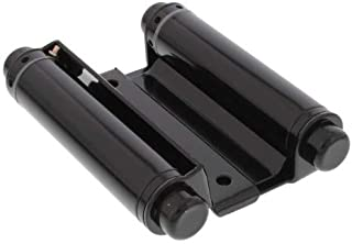 Ultra Hardware 35593 Box of 2 4in Double Acting Spring Hinge-Steel Base-Black Finish