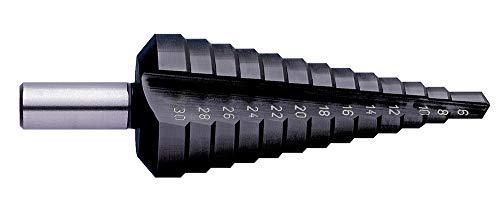 Exact Stufenbohrer mit gerader Nute, 4-20mm, HSS, TiAlN-Beschichtung