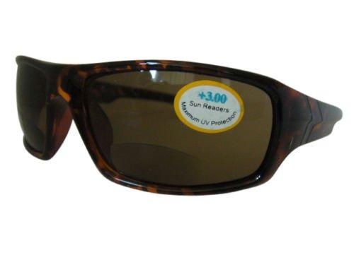 Tortoiseshell Bifocal Integral Ciclismo Deportes Wrap Around Gafas de sol 100% Protección...