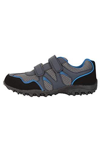 Mountain Warehouse Mars Abriebfeste Schuhe für Kinder - Leichte Wanderschuhe, Bequeme Schuhe, Wanderschuhe mit Klettverschlüssen Marineblau Kinder-Schuhgröße 37 DE
