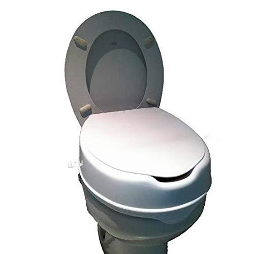 Queraltó Una - Elevador de inodoro con tapa |más higiénico y resistente| Alzador WC blanco