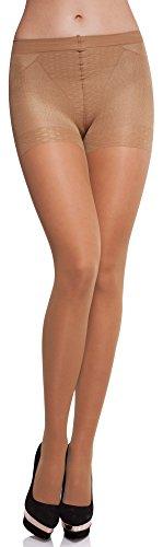 Merry Style Damen figurformende Strumpfhose MS 128 40 DEN (Beige, M (36-40))