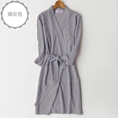 XFLOWR Liefhebbers Zomer Wafel Badjas Mannen Zuig Water Kimono Bad Robe Plus Size Peignoir Dressing Jurk Bruidsmeisje Robes