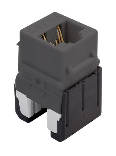 Legrand - On-Q WP346AGY Cat 6A Quick Connect RJ45 Keystone Insert, Grey