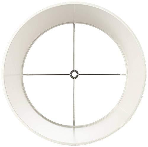 White Drum Lamp Shades Set of 2 Modern Hardback 10x12x8 (Spider) - Brentwood