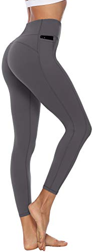 Persit Sporthose Damen, Sport Leggins für Damen Yoga Leggings Yogahose Sportleggins Grau-Size 36