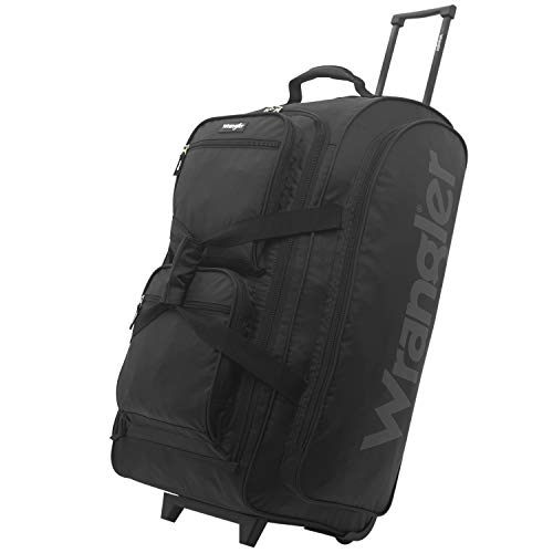 "Wrangler Rolling Duffel, Black, 30"" Large Massachusetts"