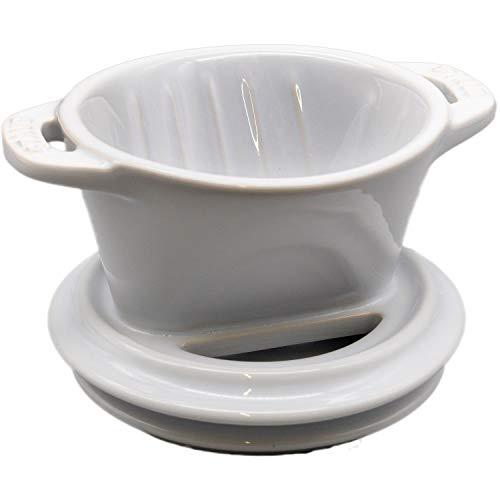 Staub ストウブ 「 コーヒードリッパー グロッシーホワイト 」 セラミック製 コーヒー ドリッパー 1~2杯 ホワイト【日本正規販売品】40508-535