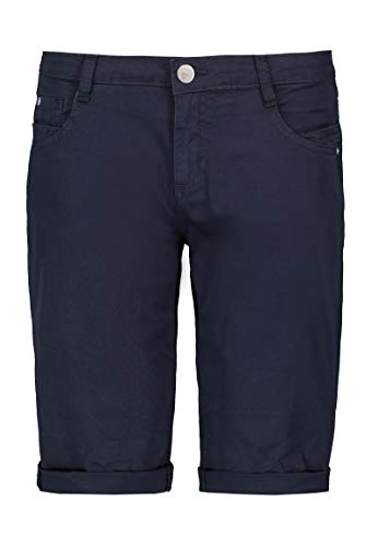 Sublevel Damen Baumwoll Bermuda-Shorts im Chino Stil Dark-Blue L