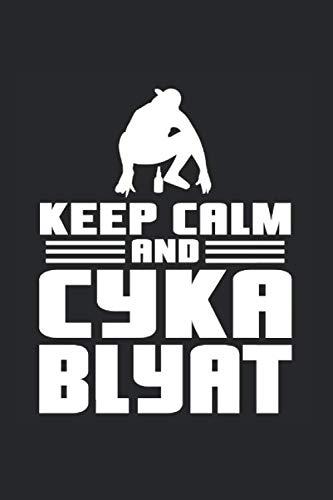 Blyat MeMe Putin Gaming Gamer Blyat Russia Orginal: Notizbuch (15,24cm x 22,86cm) 120 Seiten Kariert (4x4)