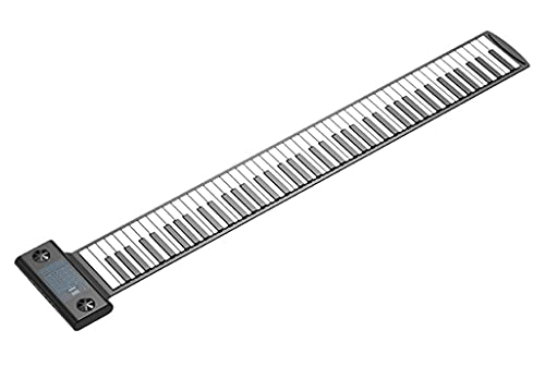 FEFCK Piano Enrollable 88-Clave Soporte Midi Y Bluetooth, Pianos Digitales Portátiles con 128 Tonos / 128 Ritmos / 14 Canciones De Demostración