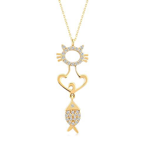 Gelin - Collar para mujer de oro amarillo 585 de 14 quilates con colga