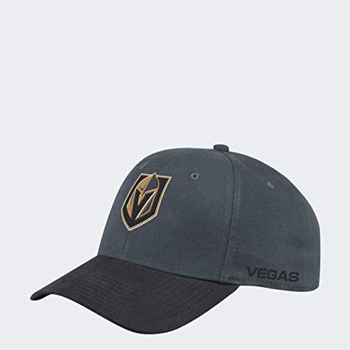 adidas Vegas Golden Knights 2019/20 NHL Coach Flex Fit NHL Cap, S/M