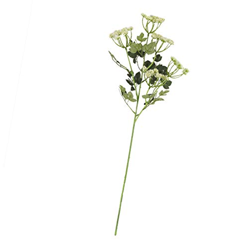 Sharplace Usine en Plastique De Fleur De Mousse Artificielle Décor De Mariage - Blanc