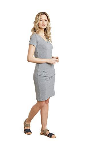 Mountain Warehouse Barcelona Vestido para Mujer - Vestido de Verano Ligero, protección UV, diseño de Capas - Ideal para Viajar, al Aire Libre, Senderismo, Acampar Gris 42
