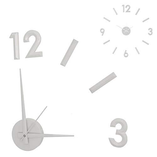 Deco Line Reloj de Pared Numeros Adhesivos Blanco 60 cm