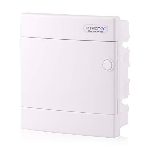 Zekeringkast inbouw IP40 verdeler behuizing 1-rij tot 8 modules witte deur voor droogkamer installatie in huis